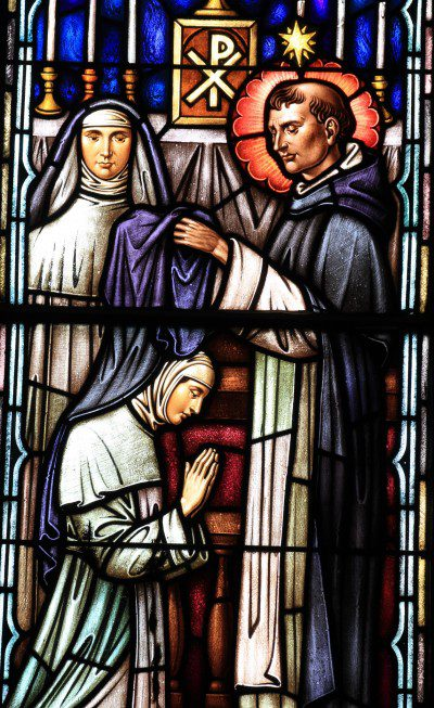 Stained glass window from St. Dominic's Church in Washington, D.C. Photo by Fr. Lawrence Lew, O.P.