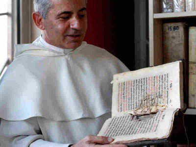 Father Najeeb Michaeel, a Iraqi Dominican friar, has been trying to further preserve Iraq's Christian texts by digitizing the ones he has been able to save.