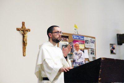 Faith Through Literature: Father Thomas More Garrett spoke with the St. Pius V young adult group last Thursday on the topic of Catholic literature, discussing what it means to be a Catholic writer and offering a list of prominent Catholic writers throughout the ages.
