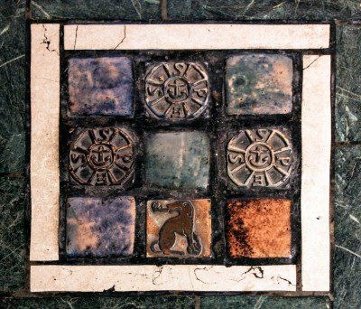 Floor tiles from St. Vincent Ferrer Church, New York City Photo: Fr. Lawrence Lew, O.P.